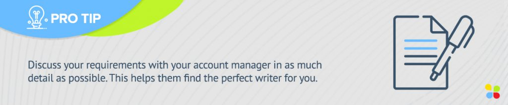 discuss your content requirement with your account manager
